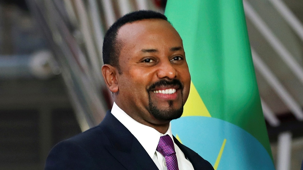 In this Thursday, Jan. 24, 2019 file photo, Ethiopian Prime Minister Abiy Ahmed at the European Council headquarters in Brussels. The 2019 Nobel Peace Prize was given to Ethiopian Prime Minister Abiy Ahmed on Friday Oct. 11, 2019. (AP Photo/Francisco Seco, file)