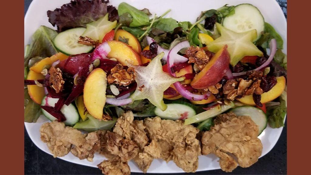 Chef Billups' Sunshine Salad with Lion's Mane. (Photos: Contributed)