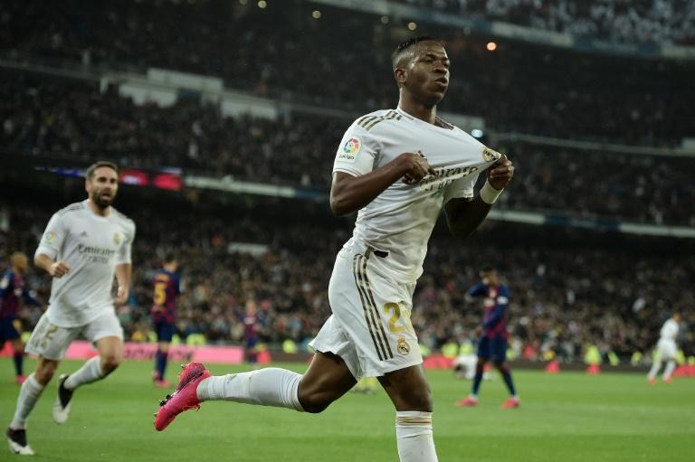 Le jeune Brésilien Vinicius Junior a lancé le Real Madrid sur la voie du succès contre le Barça dans le clasico disputé au stade Santiago-Bernabeu, le 1er mars 2020