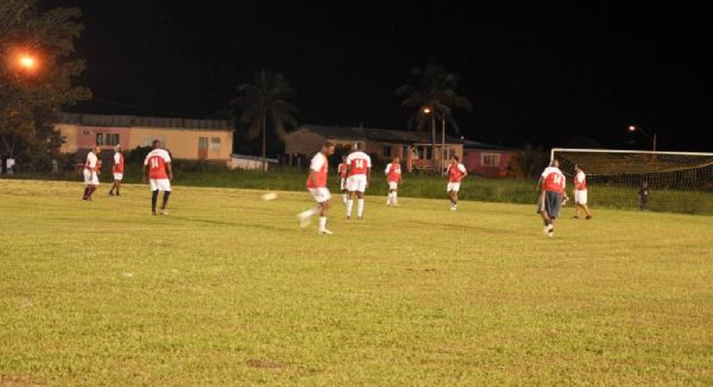Image of footballers at Bon Air Grounds. Photo courtesy news.gov.tt
