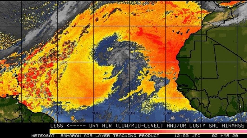 Photo via the Trinidad and Tobago Meteorological Service.