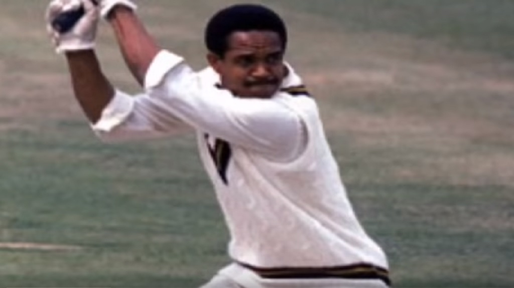 A screengrab of Sobers in his playing days.