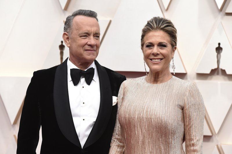 Actor Tom Hanks and his wife Rita Wilson (AP Photo)