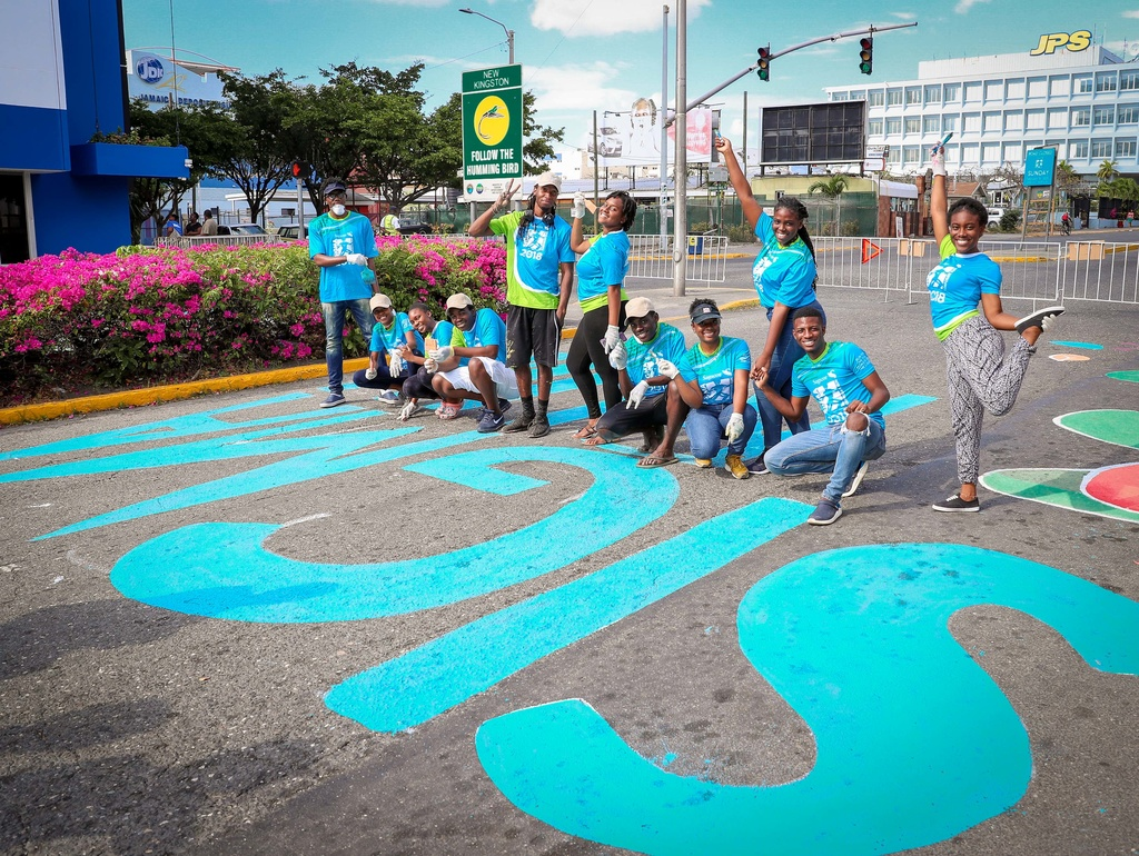 The artwork typically depicts cheerful colours and includes children, which is a major area of focus for Sagicor Foundation.