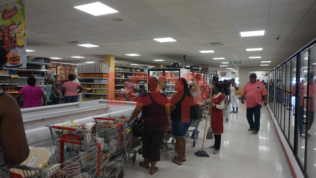 Extra-long lines in Popular Supermarket after 9 am this morning