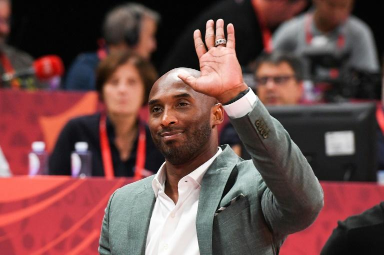 Kobe Bryant lors d'une demi-finale de la dernière Coupe du monde de basket entre l'Australie et l'Espagne à Pékin le 13 september 2019.