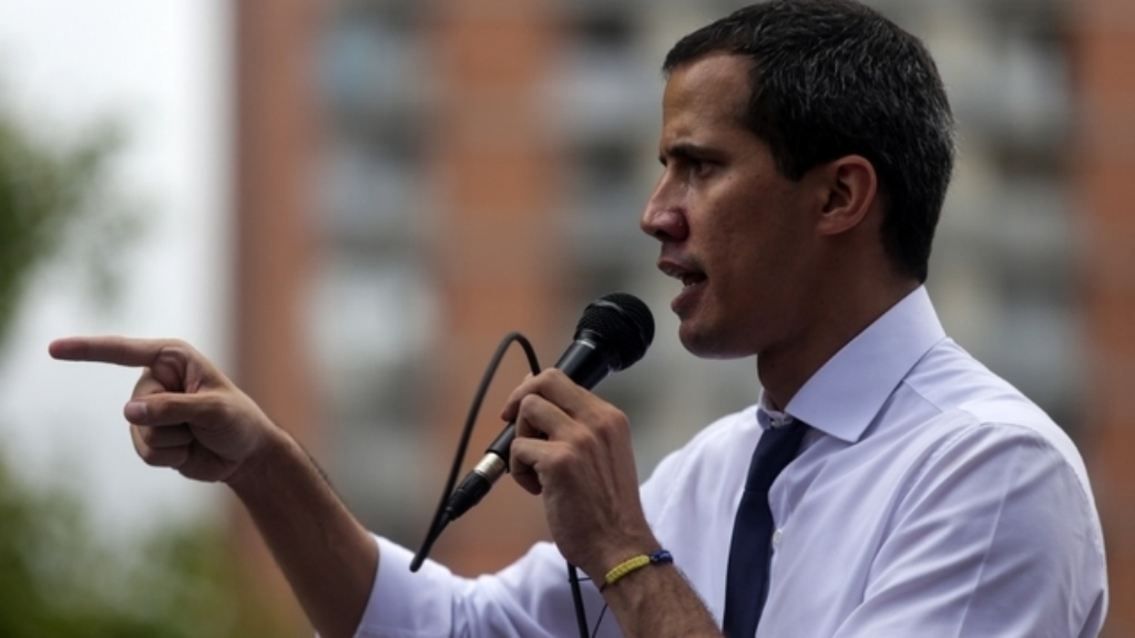 Juan Guaido, le 5 juillet 2019. (Photo by CRISTIAN HERNANDEZ / AFP)