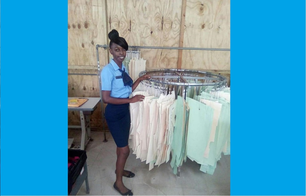 Elreka Gaymes, garment production trainee, St Vincent and the Grenadines