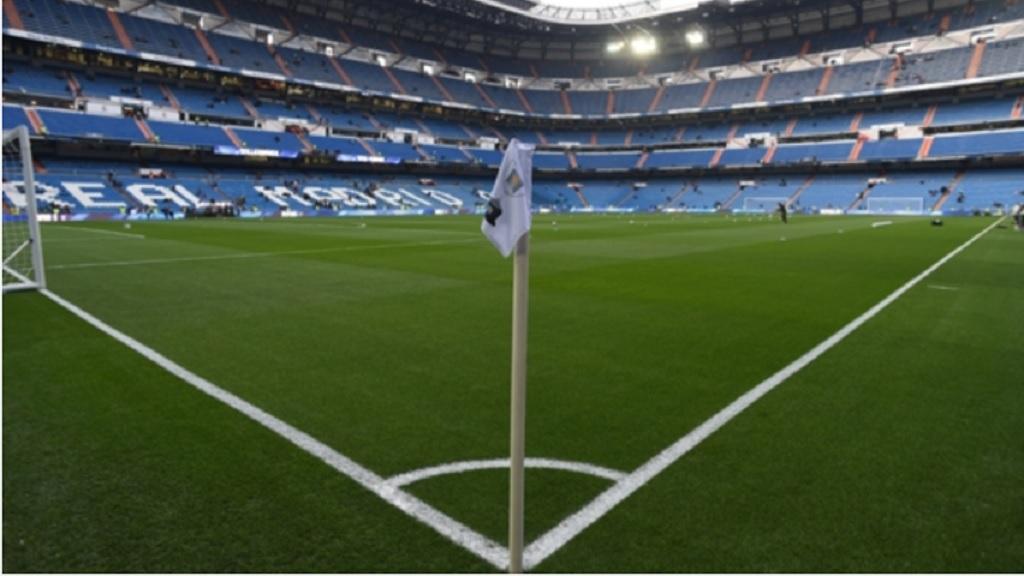 Real Madrid's Santiago Bernabeu stadium.