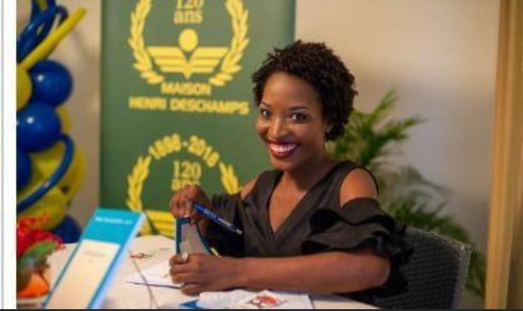 Fédia Stanislas,  gagnante du Concours littéraire Prix Deschamps 2019
