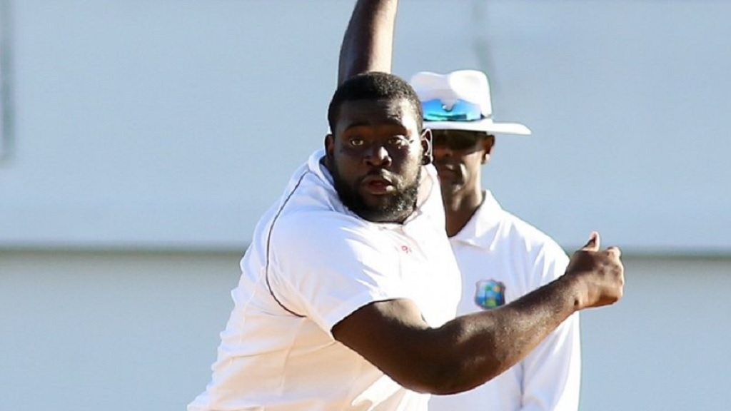 West Indies off-spinner Rahkeem Cornwall.