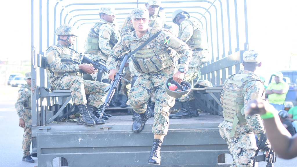 File photo of the deployment of Jamaica Defence Force (JDF) soldiers.