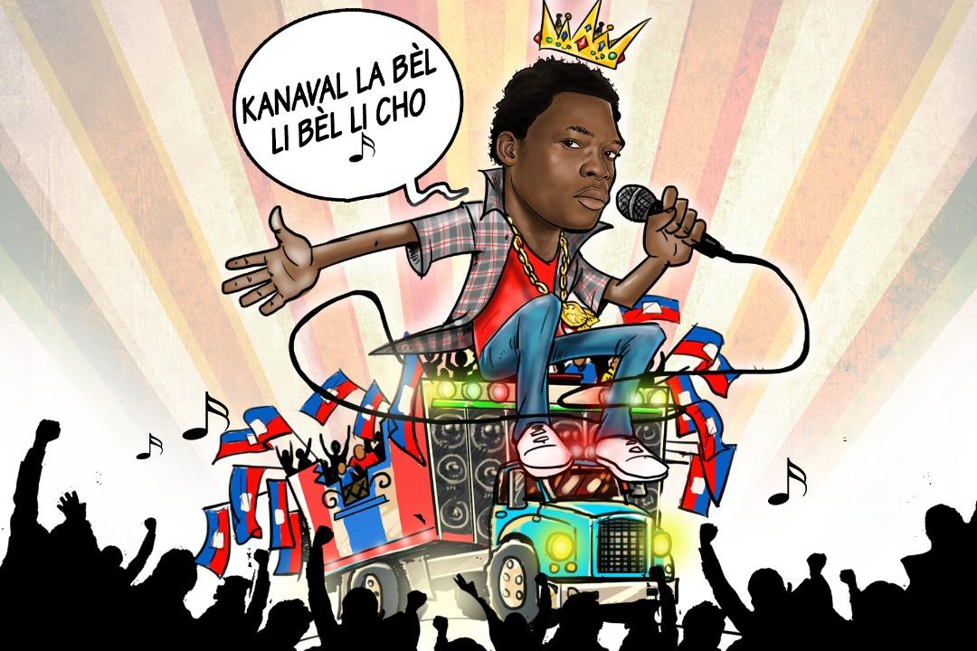 Une illustration de l'immense artiste Black Alex qui s'est révélé au grand public avec le groupe à tendance rap et Ragga, King Posse. Le groupe a fait les beaux jours du carnaval en Haïti avec des meringues jamais défraîchies / Illustration: Francisco Silva