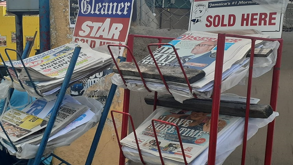 The Jamaica Observer and Gleaner Media produce newspapers locally.