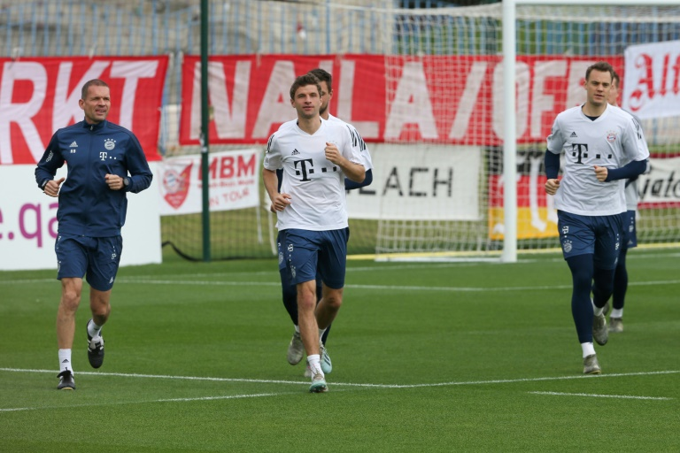 Entraînement du Bayern Munich, le 9 janvier 2020 lors d'un stage à Doha