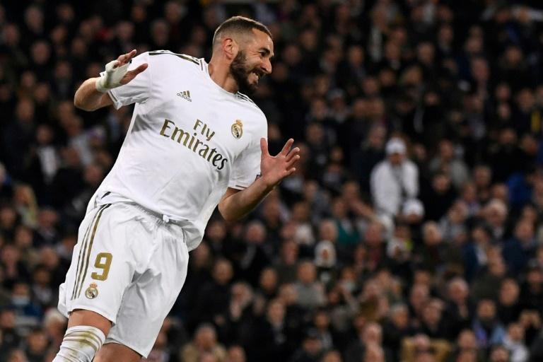 L'attaquant français du Real Madrid Karim Benzema lors du huitième de finale aller de Ligue des champions opposant son équipe à Manchester City le 26 février 2020 au stade Santiago-Bernabeu.