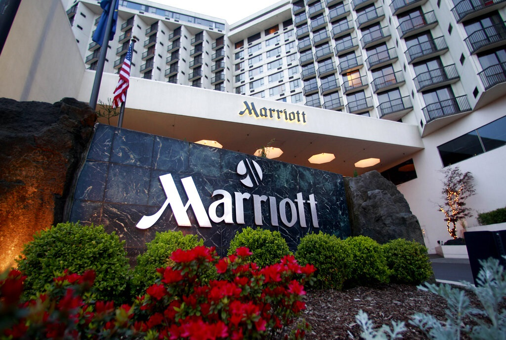 The world's largest hotel company says on Tuesday, March 31, 2020, approximately 5.2 million guests may have been affected. (AP Photo/Rick Bowmer, File)