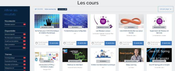 Capture d'écran de un des sites qui offrent de la formation à distance gratuite. Crédit : www.blogdumoderateur
