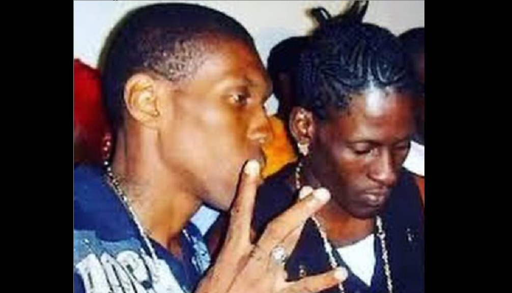 Aidonia on Instagram posted this throwback photo to the days when he and Kartel were both members of the Bounty Killer-led Alliance.