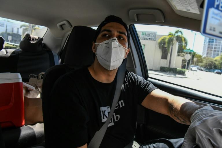 Rafael Delgado ancien chauffeur chez Uber, à Miami le 22 avril 2020