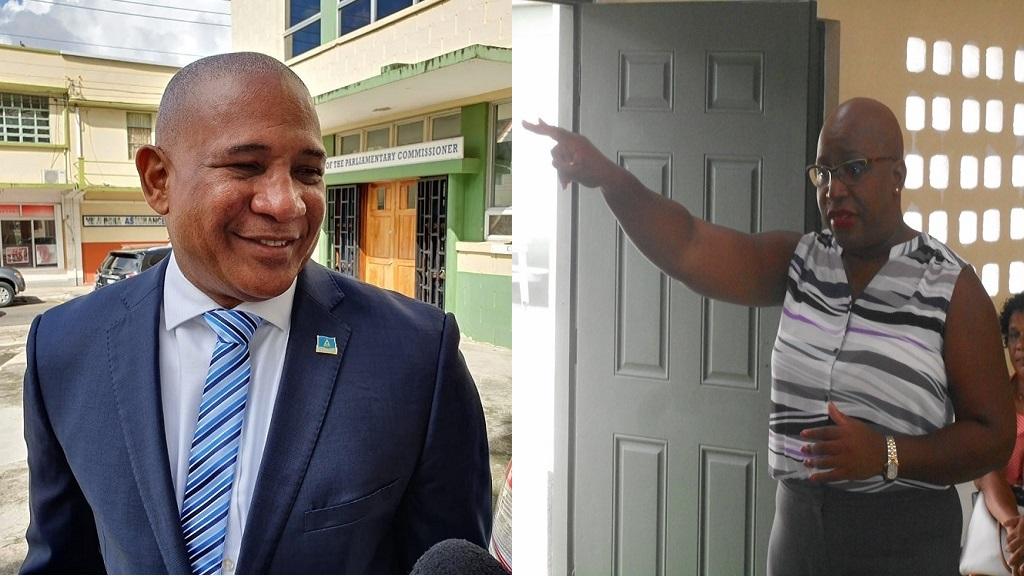 Castries South MP Dr Ernest Hilaire, Education Minister Dr Gale Rigobert