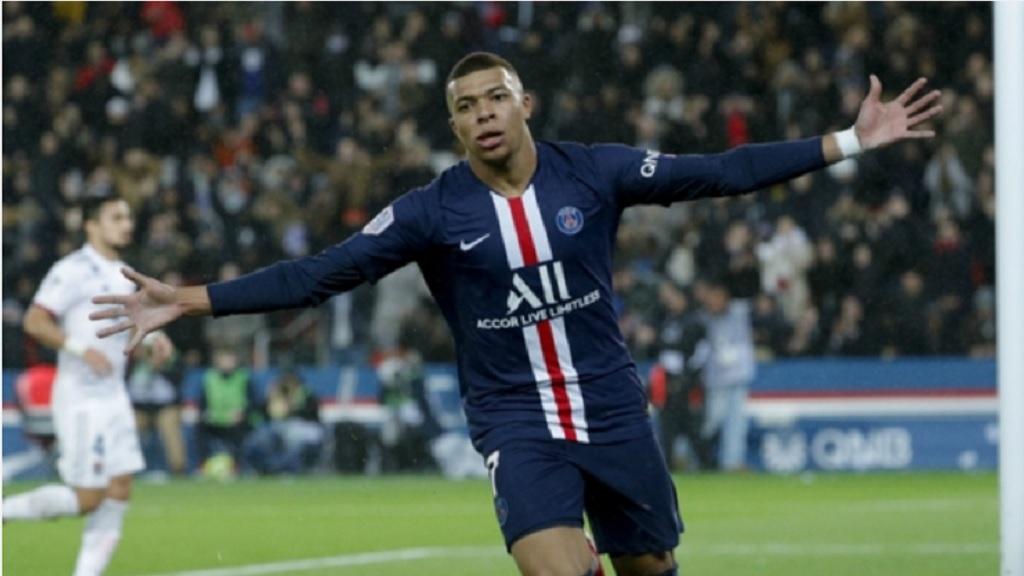 Paris Saint-Germain forward Kylian Mbappe.