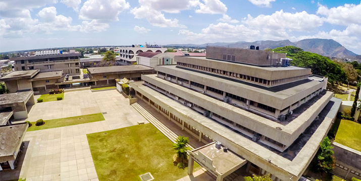 An aerial view of a section of the UWI St Augustine campus.