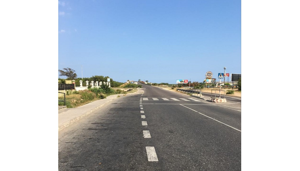 A deserted street in Portmore, St Catherine during the lockdown aimed at containing the spread of COVID-19.