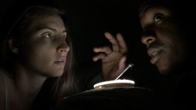 Steven M Taylor and his wife Rheem shot the three-minute long horror flick 19 with a cellphone and a flashlight at home.