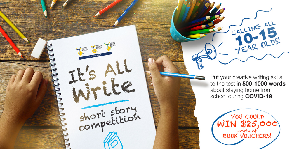 The 'It's All Write' short story competition is geared towards children who during the unprecedented novel coronavirus pandemic gripping the globe, are on lockdown at home every day since March.