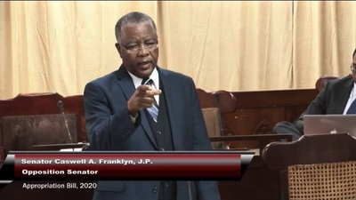 Opposition Senator, Caswell Franklyn.   Opposition Senator accuses employers of mistreating workers