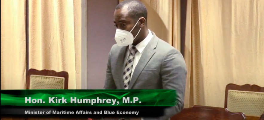 Minister of Maritime Affairs and Blue Economy, Kirk Humphrey.