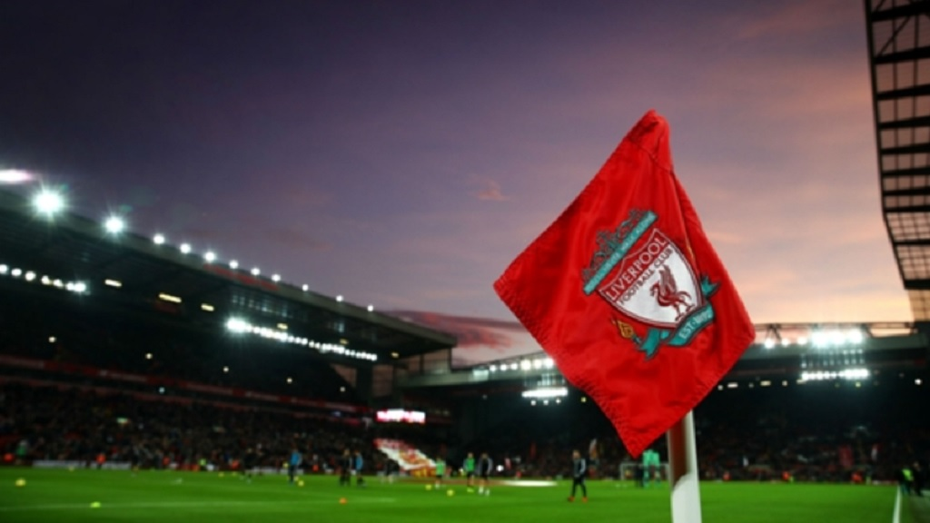Anfield, the home of Liverpool.
