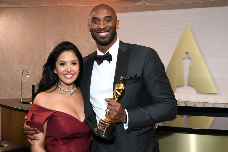 Kobe Bryant et son épouse Vanessa lors de la 90e édition de la cérémonie des Oscars le 4 mars 2018 à Los Angeles