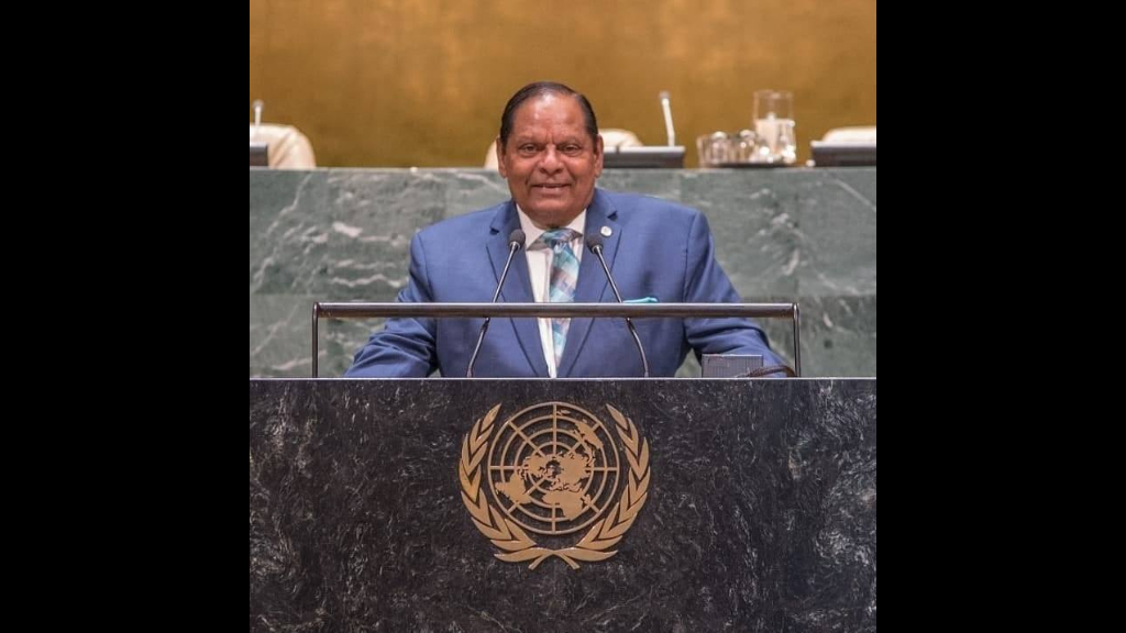 Prime Minister Moses Nagamootoo. Photo: Office of the Prime Minister Guyana.
