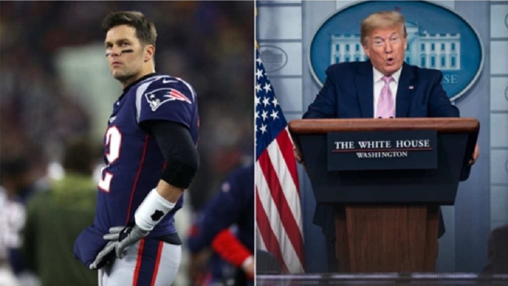 Tom Brady (left) and Donald Trump.