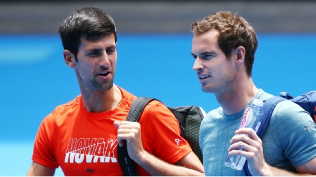 Novak Djokovic and Andy Murray.