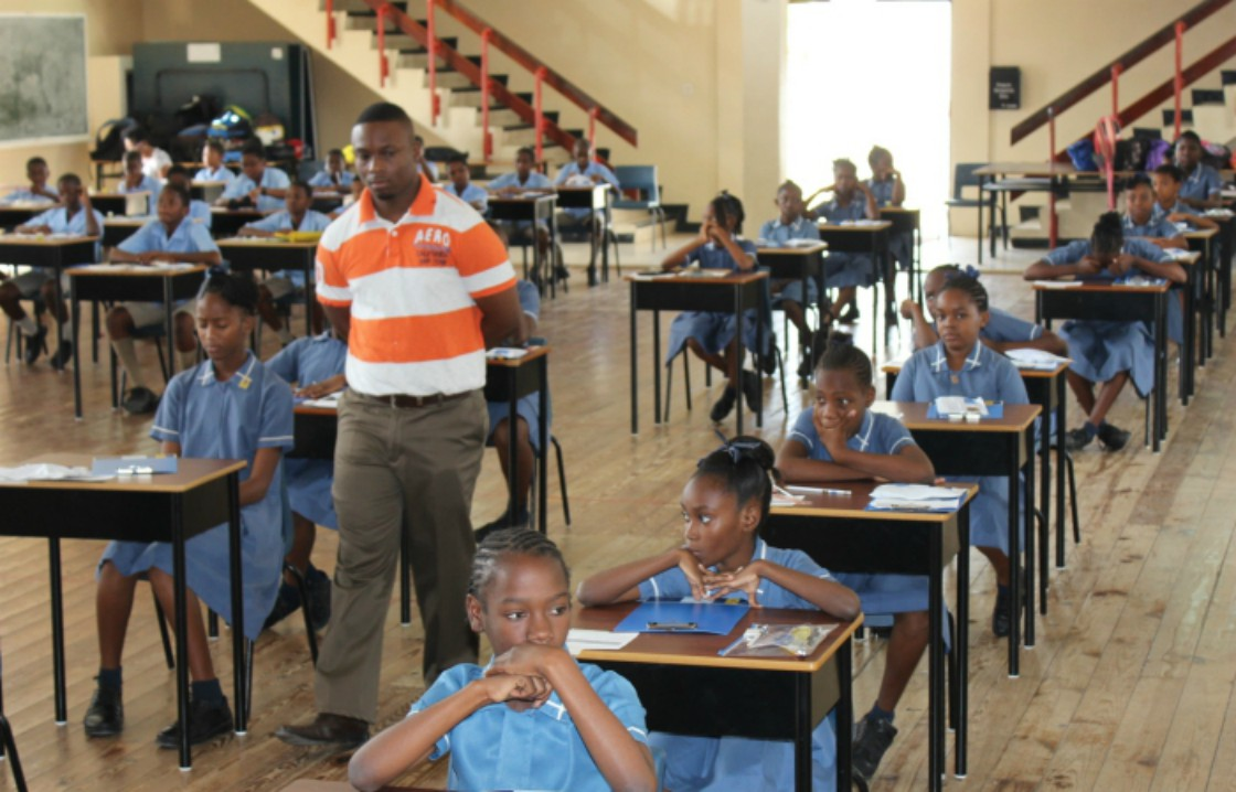 Students writing the common entrance examination in Barbados (File Photo)