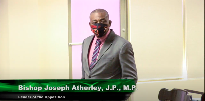 Opposition leader, Bishop Joseph Atherley speaks on the move to extend the state of the Public Health Emergency.
