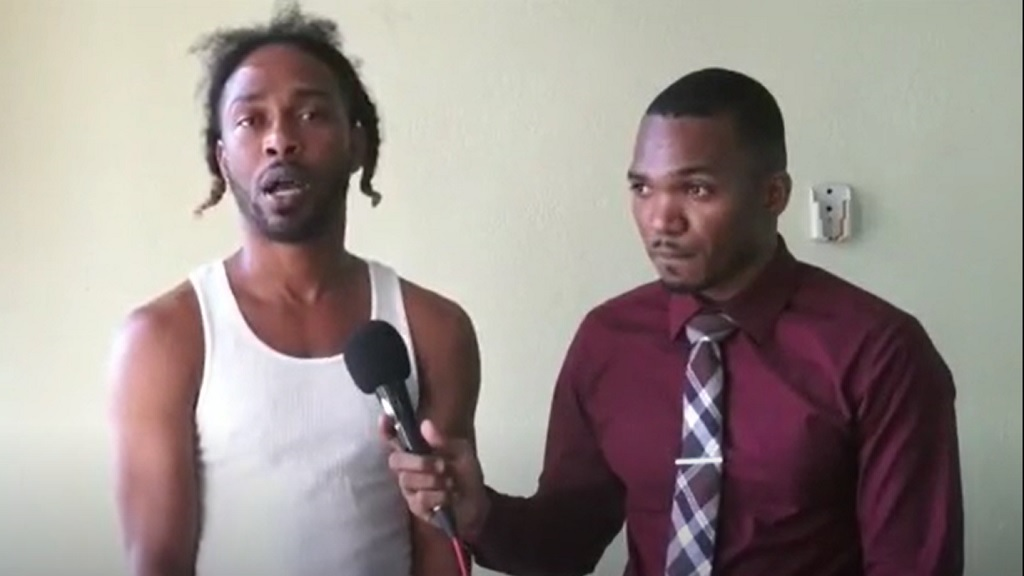 A screengrab from a video of the Arnett Gardens, St Andrew man who publicly defied the ongoing curfew orders in a video posted on social media on Wednesday, extending a public apology on for his actions on Friday.