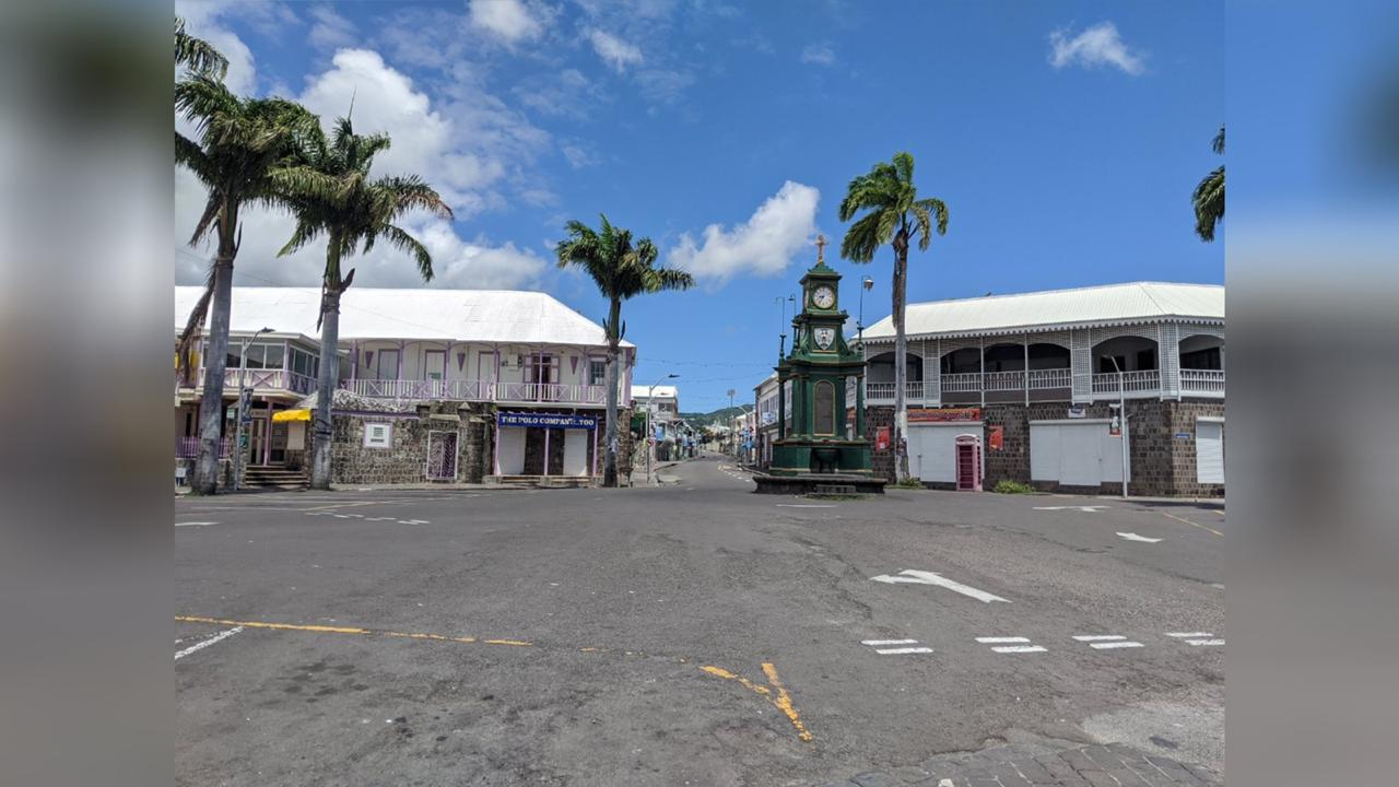 Downtown Basseterre on Wednesday April 1.