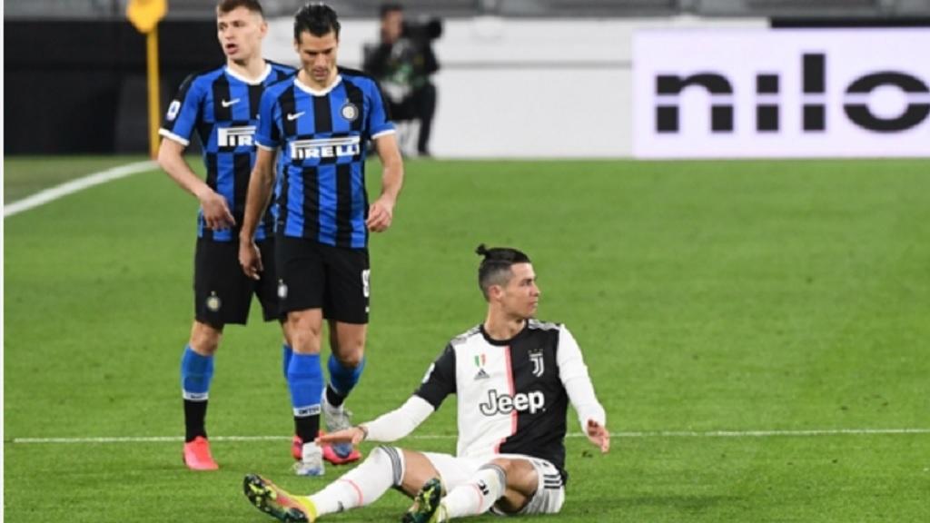 Cristiano Ronaldo Juventus v FC Internazionale in Serie A.