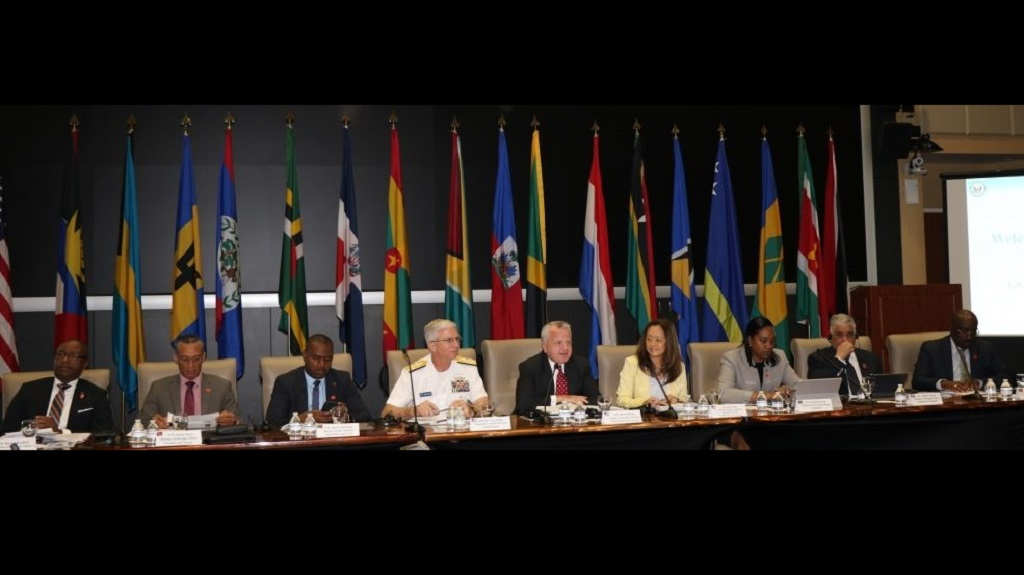 File Photo of Former Deputy Secretary of State John Sullivan with officials from Trinidad and Tobago and 17 other Caribbean countries in Miami to launch the US-Caribbean Resilience Partnership in April 2019.