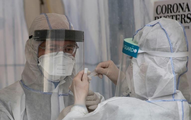 Site de dépistage du coronavirus, à Berlin, le 23 mars 2020