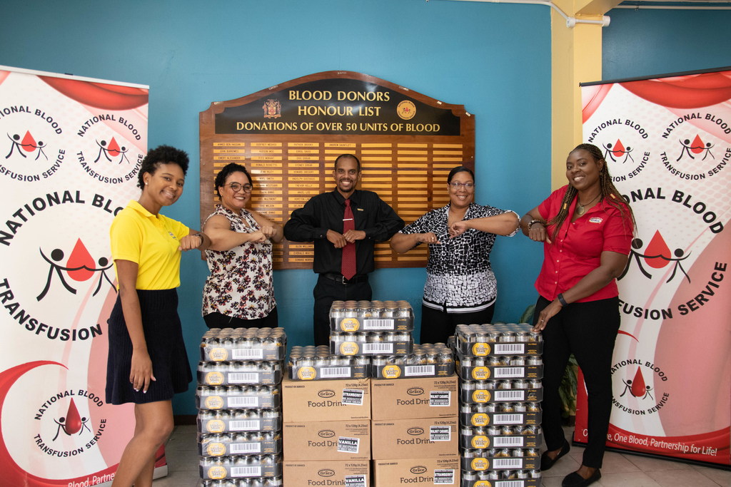 L-R: Kristina Hill, Grace Beverages Marketing Intern, Dr D. Levy, Medical Doctor at the Slipe