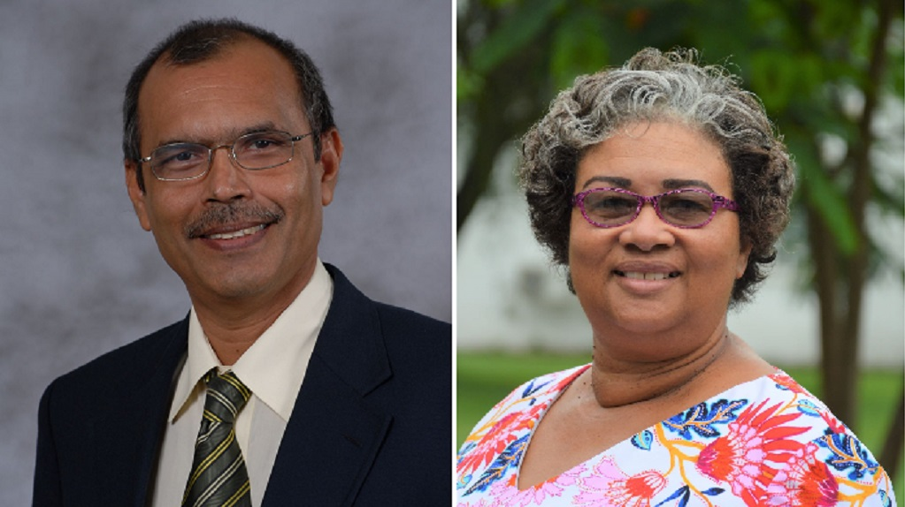 From left to right: UTT's Professor Prakash Persad, CARPHA's Executive Director Dr Joy St John