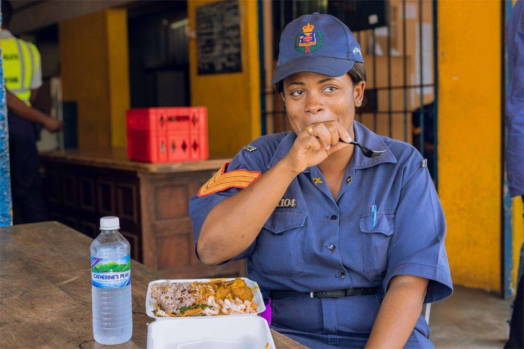 The daily provision of 100 meals and beverages will be given to police officers at quarantine centres in Hayes, Clarendon as well as officers assigned to ZOSO and SOE zones.  Photo via Grace Foods', Facebook page.