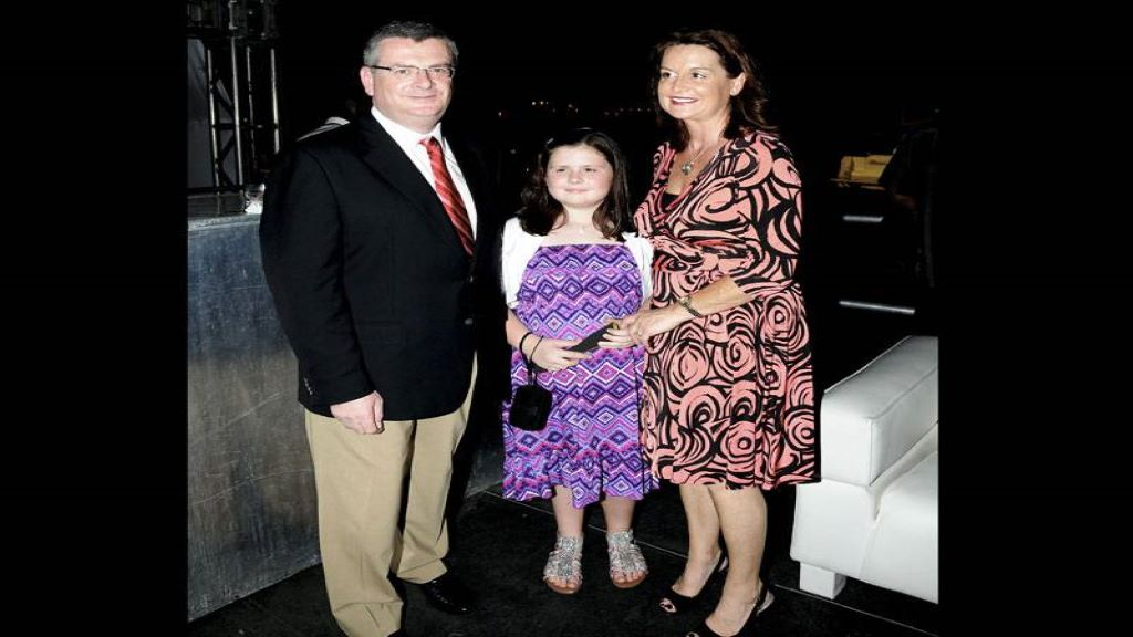 Colm Delves, his wife Paula and daughter Hannah
