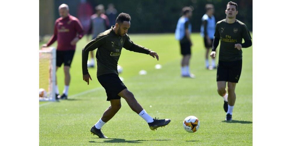 Pierre-Emerick Aubameyang au centre d'entraînement d'Arsenal en mai 2019. Photo Olly GREENWOOD/AFP