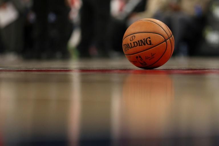 Un ballon de basket lors d'un match du Championnat NBA le 12 février 2020 à Washington